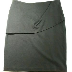 CAbi Size 10 Skirt Black Style Stretch Pencil Dres